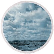 May On The Great Plains Round Beach Towel