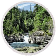 Mcdonald Creek 1 Round Beach Towel