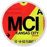 Mci Kansas City Luggage Tag I Round Beach Towel