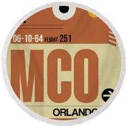 Mco Orlando Luggage Tag I Round Beach Towel