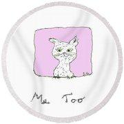 Me Too Cat II Round Beach Towel