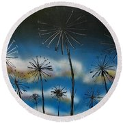 Meadow At Dawn Round Beach Towel