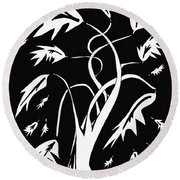 Medieval Tree Round Beach Towel