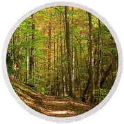 Meigs Creek Trailhead In Smoky Mountains National Park Round Beach Towel