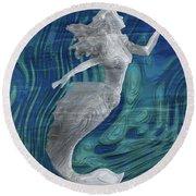 Mermaid - Beneath The Waves Series Round Beach Towel