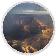 Mesmerized At Mather Point Round Beach Towel