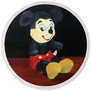 Mickey 1965 Round Beach Towel