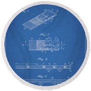 Microscope Slide Patent Round Beach Towel