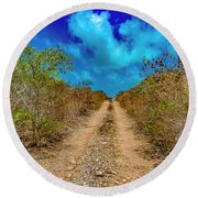 Middle Caicos Rocky Road Round Beach Towel