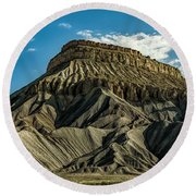 Mighty Mt. Garfield Round Beach Towel