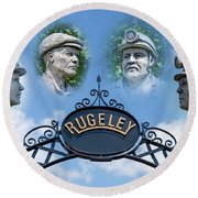 Miners Of Rugeley Round Beach Towel