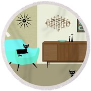 Mini Fish Art Aqua Chair Round Beach Towel