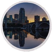 Minneapolis 13 Round Beach Towel