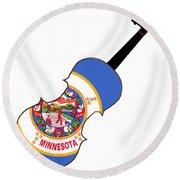 Minnesota State Fiddle Round Beach Towel
