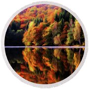 Mirrored Gallery Round Beach Towel