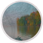 Mississippi Rivers Edge Round Beach Towel