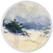 Misty Dunes Carmel Round Beach Towel