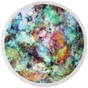 Mixed Emotions Round Beach Towel