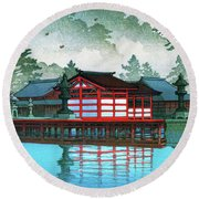Miyajima In The Mist - Digital Remastered Edition Round Beach Towel