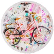 Mode Of Transport Round Beach Towel