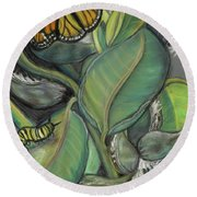 Monarch Series I Round Beach Towel