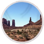 Monument Cluster Round Beach Towel