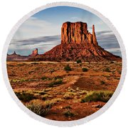 Monumental Butte Round Beach Towel