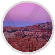 Moonrise Over The Hoodoos Bryce Canyon National Park Utah Round Beach Towel by Dave Welling