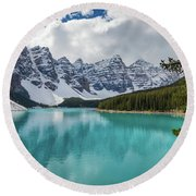 Moraine Lake Range Round Beach Towel