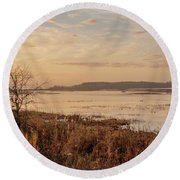 Morning At Boombay Hook Round Beach Towel by Kristia Adams