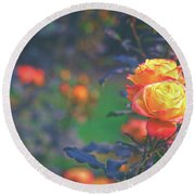 Morning Bloom Round Beach Towel