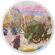 Morning In Paris - Digital Remastered Edition Round Beach Towel