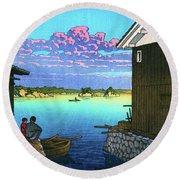 Morning In Yobuko, Hizen - Digital Remastered Edition Round Beach Towel
