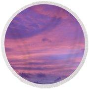 Morning Purples Round Beach Towel