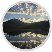 Morning Refection Round Beach Towel