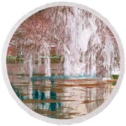 Mother Willow Altered Infrared Round Beach Towel
