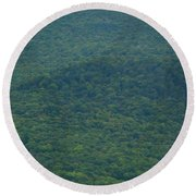 Mount Greylock Reservation's Trees Round Beach Towel