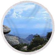Mount Lemmon View Round Beach Towel