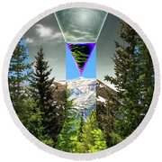 Mount Lincoln's Locus Round Beach Towel