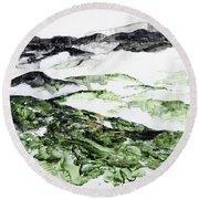 Mountains At Shenadoah 2 201901 Round Beach Towel