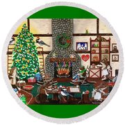Ms. Elizabeth's Holiday Home Round Beach Towel