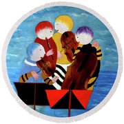 Music Performers Round Beach Towel