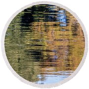 Muted Reflections Round Beach Towel by Kate Brown