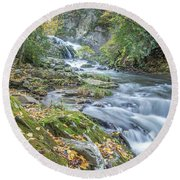 Nantahala Fall Flow Round Beach Towel