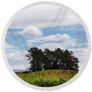 Napa Valley Round Beach Towel