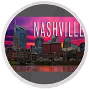 Nashville Round Beach Towel