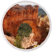 Natural Bridge - Bryce Canyon - Utah Round Beach Towel