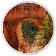 Natural Bridge - Bryce Canyon - Utah - Vertical Round Beach Towel