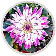 Naturalness And Flowers 38 Round Beach Towel