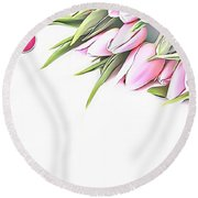 Naturalness And Flowers 42 Round Beach Towel
